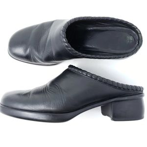 Cole Haan Comfort Flex Mules Black Closed Toe
